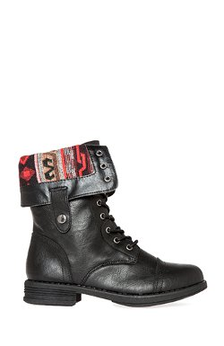 Dailylook - Tribal Lined Combat Boots
