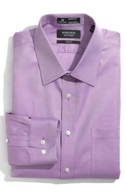 Nordstrom  - Smartcare Herringbone Trim Fit Dress Shirt