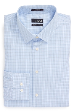 1901 - Trim Fit Non-Iron Check Dress Shirt