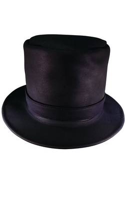Sharpshooter - Leather Steampunk Top Hat