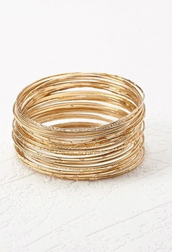 Forever21 - Etched Bangle Set Bracelet