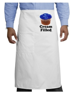 Tooloud - Cream Filled Blue Cupcake Design Adult Bistro Apron