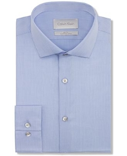 Calvin Klein - Platinum Slim-Fit Solid Dress Shirt