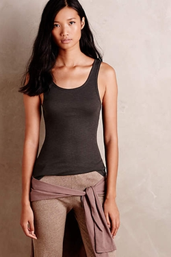 Grey State   - Ribbed Josie Tank Top