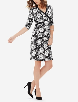 The Limited - Printed Wrap Look Dress