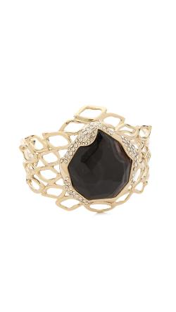 Alexis Bittar  - Aiguille Banded Agate Cuff Bracelet