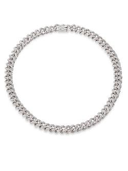 Adriana Orsini  - Pave Small Link Chain Necklace