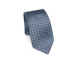 Kiton - Medallion Pattern Silk tie