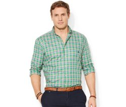 Polo Ralph Lauren  - Big and Tall Long Sleeve Oxford Pinpoint Shirt