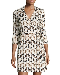 Julie Brown  - Milo Printed Wrap Dress