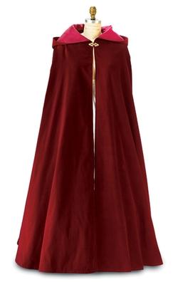 Carpatina - Burgundy Velvet Cloak
