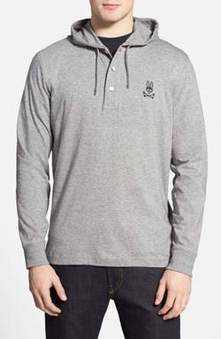 Psycho Bunny  - Hooded Long-Sleeve Henley T-Shirt