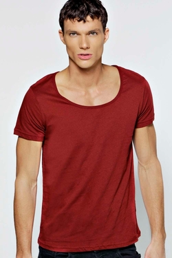 Boohooman Basics  - Basic Slim Fit Scoop Neck T-Shirt