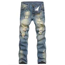 Stunner - Vintage Ripped Broken Hole Jeans