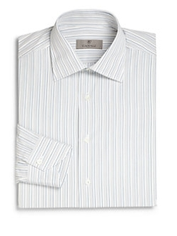 Canali  - Regular-Fit Striped Dress Shirt