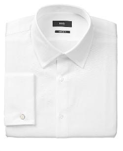 Hugo Boss  - Solid French Cuff Shirt