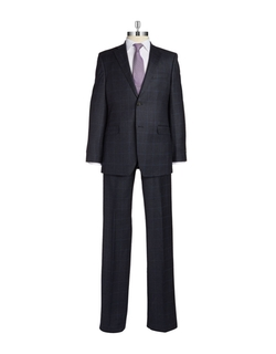 Lauren Ralph Lauren  - Plaid Two Button Wool Suit