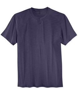 INC International Concepts  - Split Neck Slub Cotton T-Shirt
