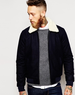 Asos  - Wool Harrington Jacket