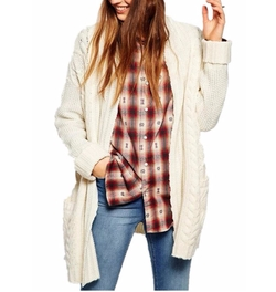 Lingswallow - Casual Long Sleeve Knit Cardigan Sweaters