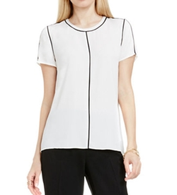 Vince Camuto - Short-Sleeve Contrast Top