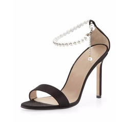Manolo Blahnik - Chaos Pearly Ankle-Wrap Sandals