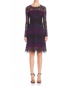 Elie Tahari - Ophelia Colorblock Lace Dress