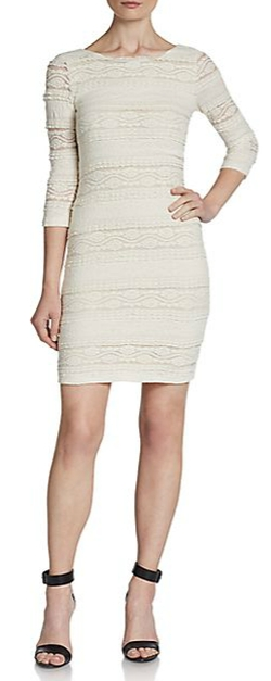 Willow & Clay - Scooped-Back Lace Sheath Dress