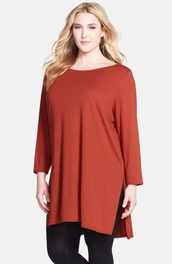 Eileen Fisher  - Ballet Neck Jersey Tunic Top