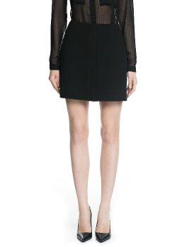 Mango - High-Waist Miniskirt