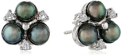 Bella Pearl - Pearl Cubic Zirconia Earrings