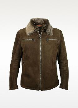 Forzieri  - Dark Brown Shearling Jacket W/fur Collar
