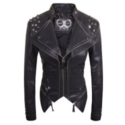 Lex - Studded Leather Moto Jacket