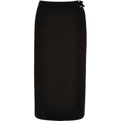 River Island - Wrap Front Belted Midi Skirt