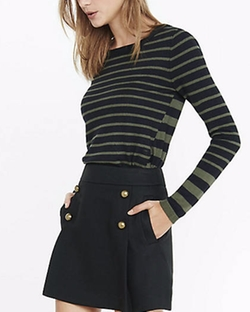 Express - Mixed Stripe Crew Neck Sweater