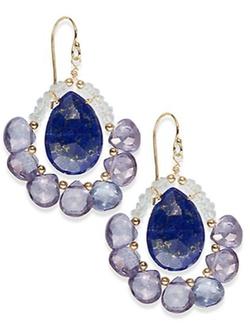 Eva Hanusova  - Aquamarine & Blue Topaz Drop Earrings