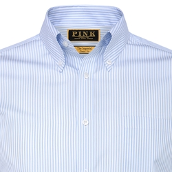 Pink - Olave Stripe Classic Fit Button Cuff Shirt