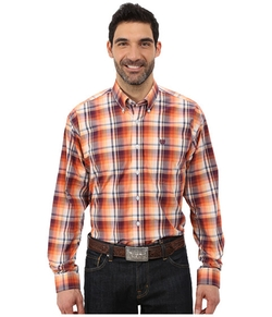 Cinch  - Long Sleeve Plain Weave Plaid Shirt