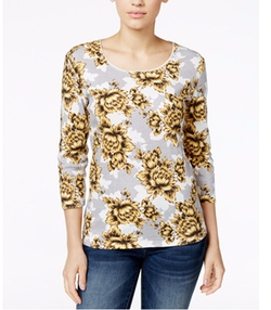 Karen Scott - Three-Quarter-Sleeve Top