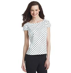 Nine West - Polka Dot Ponte Blouse