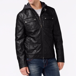 Kenneth Cole - Hooded Quilted Bomber Jacket