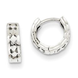 Jewelry Pot - White Gold Hoop Huggie Earrings