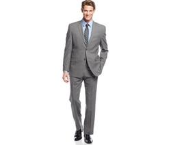 Andrew Marc - Grey Plaid Suit