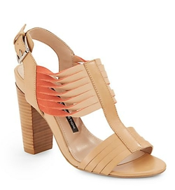 French Connection  - Kamilla Twist Strap Leather Sandals