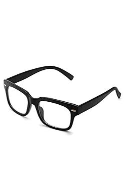 King Ice  - Black Shiny Frame Non-RX Nerd Glasses