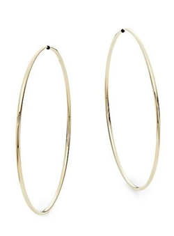 Saks Fifth Avenue - Yellow Gold Hoop Earrings