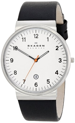 Skagen - Klassik Three-Hand Date Leather Watch