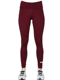Adidas By Stella Mccartney   - Yoga Performance Fold Over Leggings