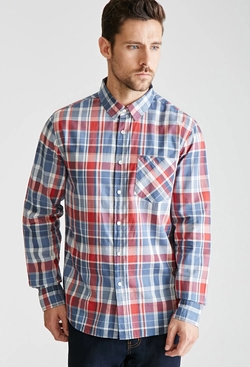 21 Men - Plaid Collared Shirt