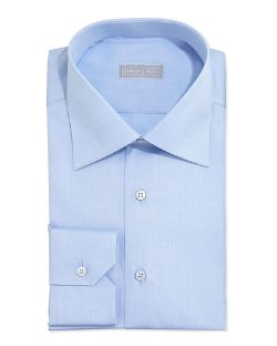 Stefano Ricci - Basic Solid Barrel-Cuff Dress Shirt